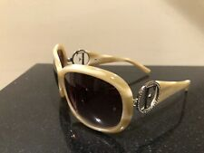 GIANFRANCO FERRE-GF 84403-61 18 125-LARGE IVORY OVAL SUNGLASSES-EXCELLENT COND!