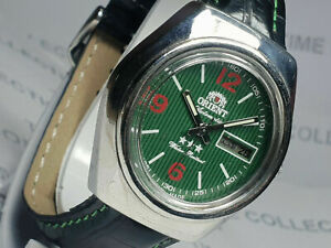 Vintage Orient Day Date  Mechanical Automatic Mens Wrist Watch WU303 F