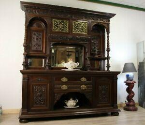*Massiv Mahagoni* 1870 England Viktorianisch Gründerzeit Buffet Neo-Renaissance