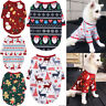 Christmas Pet Cat Puppy Dog Vest T-shirt Coat Xmas Elk Dog Clothes Pet Apparel