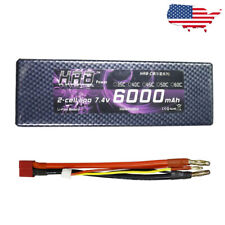 HRB 7.4V 6000mAh 60C RC Lipo Battery 2S Hardcase for Car Truck Losi Truggy Drone