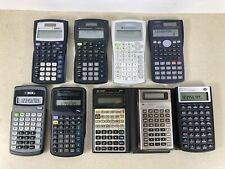 Lot Scientific & Business Financial Calculators Texas Instruments Casio Sharp Hp