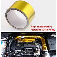 1 Roll Heat Shield Wrap Tape Gold Fiberglass Waterproof Anticorrosive 9m x 5cm