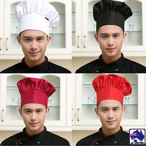 Baker Hat Kitchen Cook Catering Restaurants Cap Chef Unisex White Black CTSK706