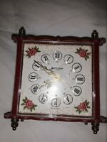 Vintage Wind Up Table Alarm Clock Jerger Made In West Germany vintage roses