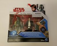 Star Wars Boba Fett AND Han Solo Figure Force Link Brand New and Sealed Disney