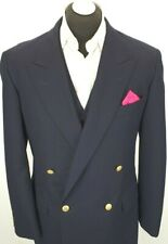 BURBERRY MEN JACKET BLAZER SIZE UK 46 US 46  DOUBLE BREASTED GOLDEN BUTTON