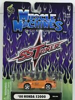 Muscle Machines- 00 Honda S2000- SS Tuners- 1:64 Diescast Car- 2002