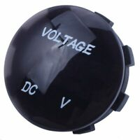5V-25V DC Voltmeter LED Digital Display Panel Mounted Round Waterproof Car  O9F2