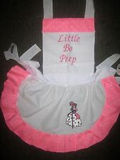 GIRLS LITTLE BO PEEP COSTUME APRON Most colors SEE STORE FOR VARIETY
