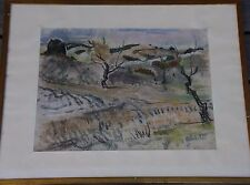 Willy EISENSCHITZ Tableau peinture dessin au pastel drawing painting Provence **