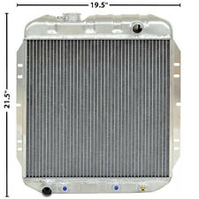 1965-66 Mustang 1964-65 Falcon Radiator OE Style Aluminum 3 Row  I-6 Left Outlet