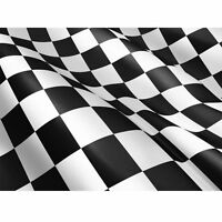 LARGE 5F X 3FT CHEQUERED CHECK BLACK WHITE FLAG F1 GRAND PRIX RACING FANS F77010