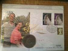 1947-1997 Q.E.2 COIN F.D.C. - GOLDEN WEDDING CROWN + SILVER WEDDING STAMPS