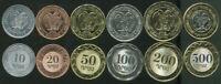 ARMENIA SET 6 COINS 10 20 50 100 200 500 DRAM 2003-2004 UNC