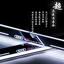 2pcs LED Door sill Scuff Plate threthold Trim Panel for For Audi A6L C7 13-2015