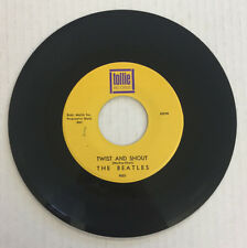 BEATLES TWIST AND SHOUT 45 PURPLE PRINT YELLOW LABEL TOLLIE  633194 VINYL 6.0