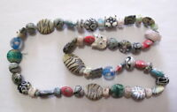 A String Beautiful Peking Colored Glass Glaze Carved animal Necklace Beads