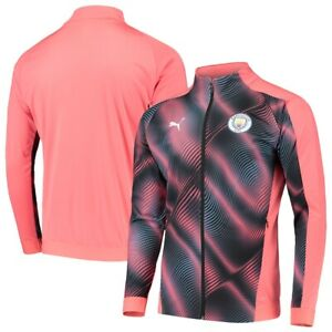 PUMA  Stadium Manchester City Jacket Men's Size Large In Black & Orange On Sale