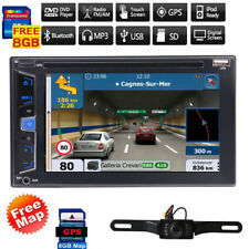 """6.2"""" Touch Screen Double 2 DIN Car Stereo DVD CD Player Bluetooth Radio GPS Navi"""