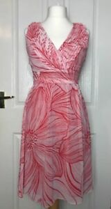 Per Una Wrap Style Summer Dress Size 10 BNWT RRP £39.50 Holiday Cruise Occasion