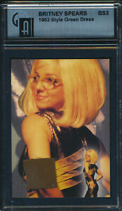 2002 Britney Spears Event Worn 1963 Style Green Dress Card BS3 GAI Certified
