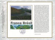 FEUILLET CEF / DOCUMENT PHILATELIQUE / FRANCE BRESIL 2008 PARIS
