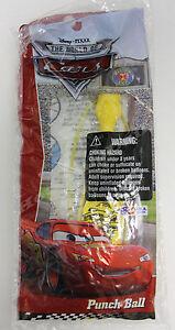 "DISNEY PIXAR CARS 14"" INFLATABLE PUNCH BALL PUNCHING BALLOON LIGHTNING MCQUEEN"