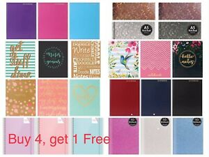 A5 Hardback/Soft  Notebook Lined Ruled Journal Notepad Office School Diary