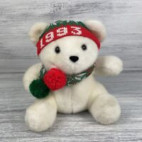 1993 VINTAGE  Prettique Designs CHRISTMAS SANTA TEDDY BEAR STUFFED ANIMAL PLUSH