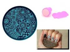 Nail Art Stamping Creative Radiating Floral Template Stamper Scraper Kit BP 53
