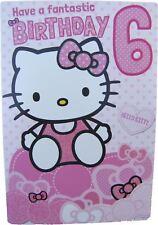 Hello Kitty birthday card for age 6 (SIX) by Gemma - 223910