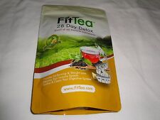"""FIT TEA 28 DAY DETOX FAT BURNING, ALL NATURAL, NON GMO """"NEW SEALED"""" EXP 12/2018"""