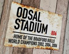 More details for bradford bulls - odsal stadium sublimated wall man cave plaque