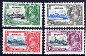 Grenada Silver Jubilee set of 4 fine used [Bird][H902]