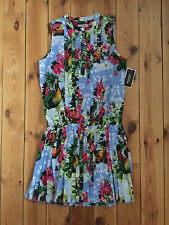 NEW JUICY COUTURE MULTI PRINT PARADISE FLORAL DRESS UK10 (US6)