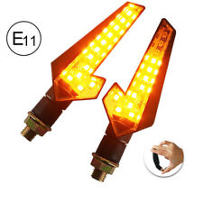 Waterpoof ATV Motorcycle LED Indicator Turn Signal Light Built-in Flash Relay 2x