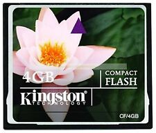 Kingston CompactFlash 4GB 4G CF Flash Memory Card New Lifetime Warranty
