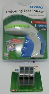 Dymo Xpress Embossing Label Maker express with + 3 Black tapes in stock