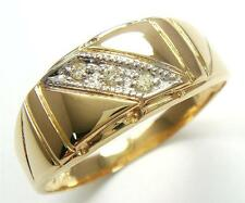10KT SOLID YELLOW GOLD DIAMONDS GENT'S MEN'S RING   SIZE 9.5   R1279
