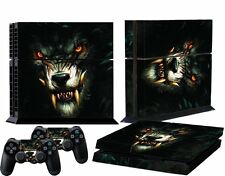 Black Wolf Glossy Decal Skin Sticker for Playstation 4 PS4 Console Controllers