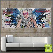 Huge Industrial Urban Pop Art Textured Angel Painting wood 187cm x 212cm Franko
