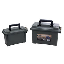 High-Desert 2 Pack Plastic lockable Ammo Boxes Cans 30 & 50 Cal Ammunition