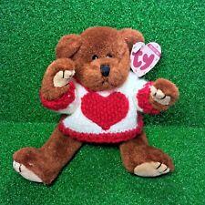 Ty Attic Treasures Casanova The Bear Rare Jointed Valentine's Teddy Plush - MWMT