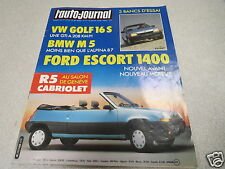 L AUTO JOURNAL 1986 N° 5 VW Golf 16S - BMW M5 - R5 Cabriolet- Ford *