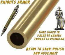 One (1) Ready To Finish Raw Brass Knights Armor Ballpoint Pen Body / Blank #117