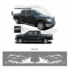 Ford F-150 2009 up Bright White Body Side Raptor Style Graphic Kit