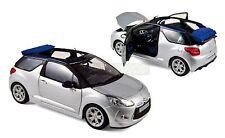 Citroen DS3 Cabrio 2013-15 argent argent métallique with Infini Bleu 1:18 Norev