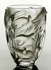 ca82 KRISTALL VASE LALIQUE MARTINETS NP 1.900€ ca4,5kg 24,5cmH SEHR GUT ZUSTAND