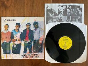 """7 SECONDS - WALK TOGETHER ROCK TOGETHER  - BYO 1986 12""""  VINYL LP - EX/EX"""